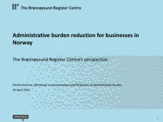 Administrative burden reduction for businesses in Norway