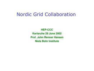 Nordic Grid Collaboration