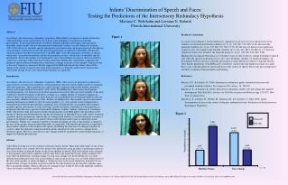 Infants  Discrimination of Speech and Faces: Testing the Predictions of the Intersensory Redundacy Hypothesis Mariana C.