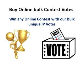 Buy Online Bulk Contest Votes