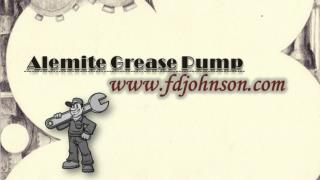 Alemite Grease Pump