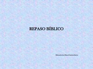 REPASO BÍBLICO
