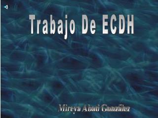 Trabajo De ECDH