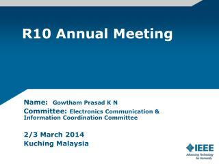 R10 Annual Meeting