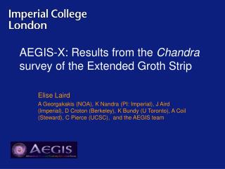AEGIS-X: Results from the  Chandra  survey of the Extended Groth Strip
