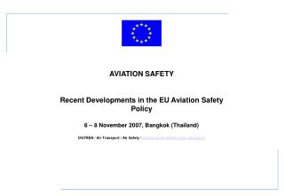 A.2:	Working Methods for EASA Inspections