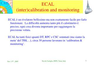 ECAL (inter)calibration and monitoring