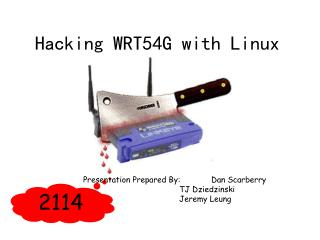 Hacking WRT54G with Linux