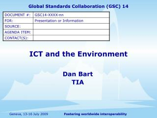 ICT and the Environment