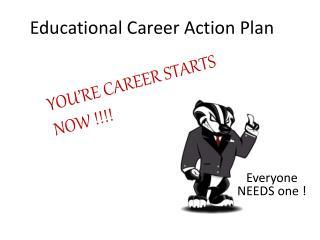 Educational Career Action Plan