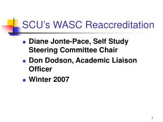 SCU's WASC Reaccreditation