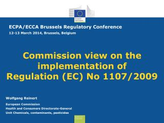 Commission view on the implementation of  Regulation (EC) No 1107/2009