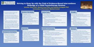 Striving to Keep Up with the Field of Evidence-Based Interventions: