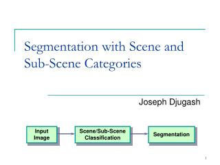 Segmentation with Scene and Sub-Scene Categories