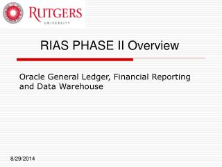 Oracle General Ledger, Financial Reporting and Data Warehouse