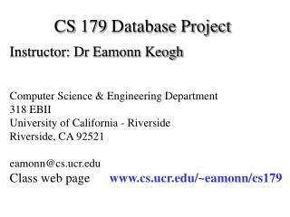 CS 179 Database Project