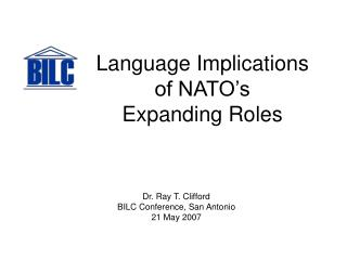 Language Implications of NATO's Expanding Roles