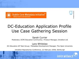 DC-Education Application Profile Use Case Gathering Session