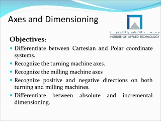 Axes and Dimensioning