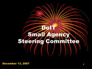 DoIT  Small Agency  Steering Committee