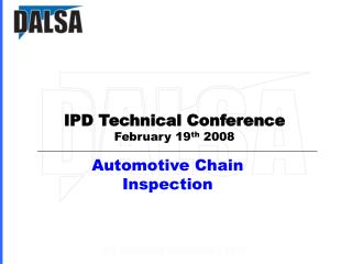 Automotive Chain Inspection