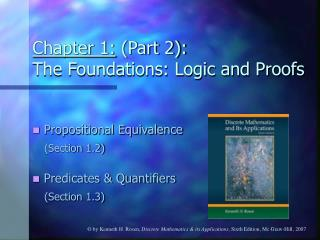 Chapter 1:  (Part 2):  The Foundations: Logic and Proofs