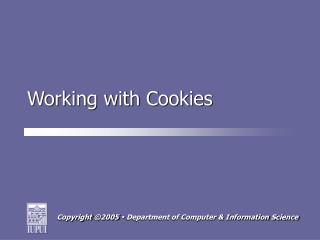 Working with Cookies
