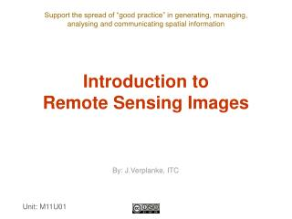 Introduction to  Remote Sensing Images
