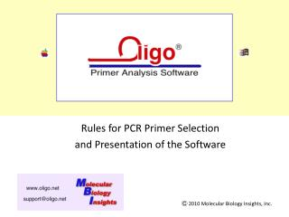 Oligo 7 Primer Analysis Software