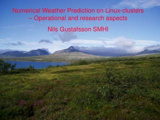 Numerical Weather Prediction on Linux-clusters – Operational and research aspects