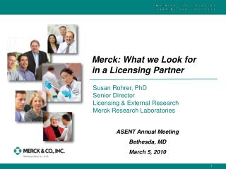Merck: What we Look for in a Licensing Partner