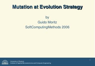 Mutation at Evolution Strategy