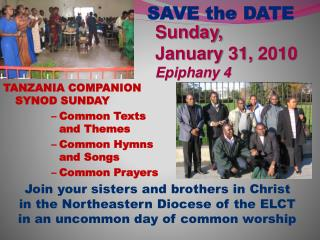 Sunday,  January 31, 2010 Epiphany 4