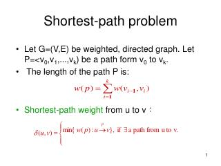 Shortest-path problem