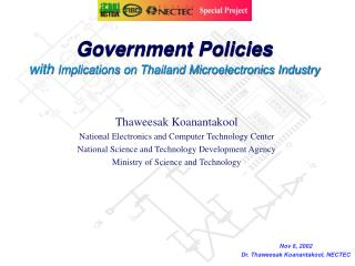Government Policies with  Implications on Thailand Microelectronics Industry