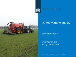 Dutch manure policy
