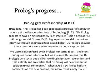 Prolog's progress...