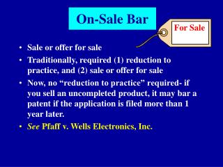 On-Sale Bar