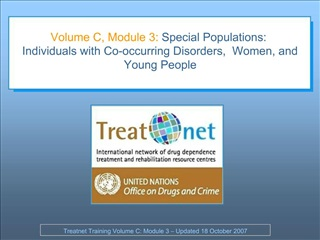 Volume C, Module 3:  Special Populations: Individuals with Co-occurring Disorders,  Women, and Young People