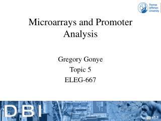 Microarrays and Promoter Analysis