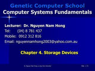 Genetic Computer School Computer Systems Fundamentals
