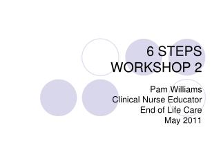 6 STEPS WORKSHOP 2