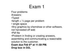 Exam 1