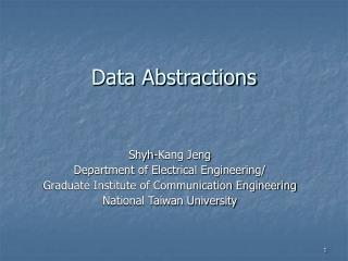 Data Abstractions