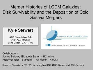 Merger Histories of LCDM Galaxies: Disk Survivability and the Deposition of Cold Gas via Mergers
