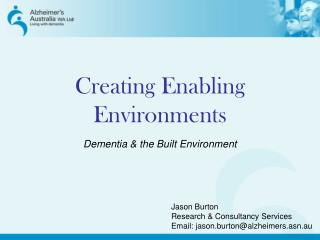 Creating Enabling Environments