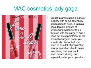 MAC cosmetics lady gaga
