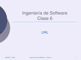 Ingeniería de Software Clase 6