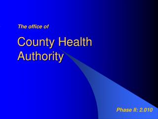 County Health Authority