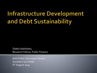 Infrastructure Development and Debt Sustainability
